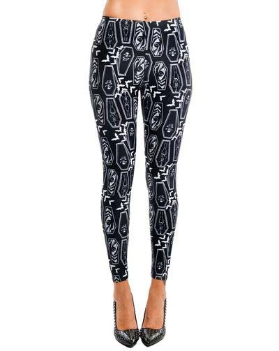 Lexy Leggings by Too Fast Clothing - Coffins - SALE
