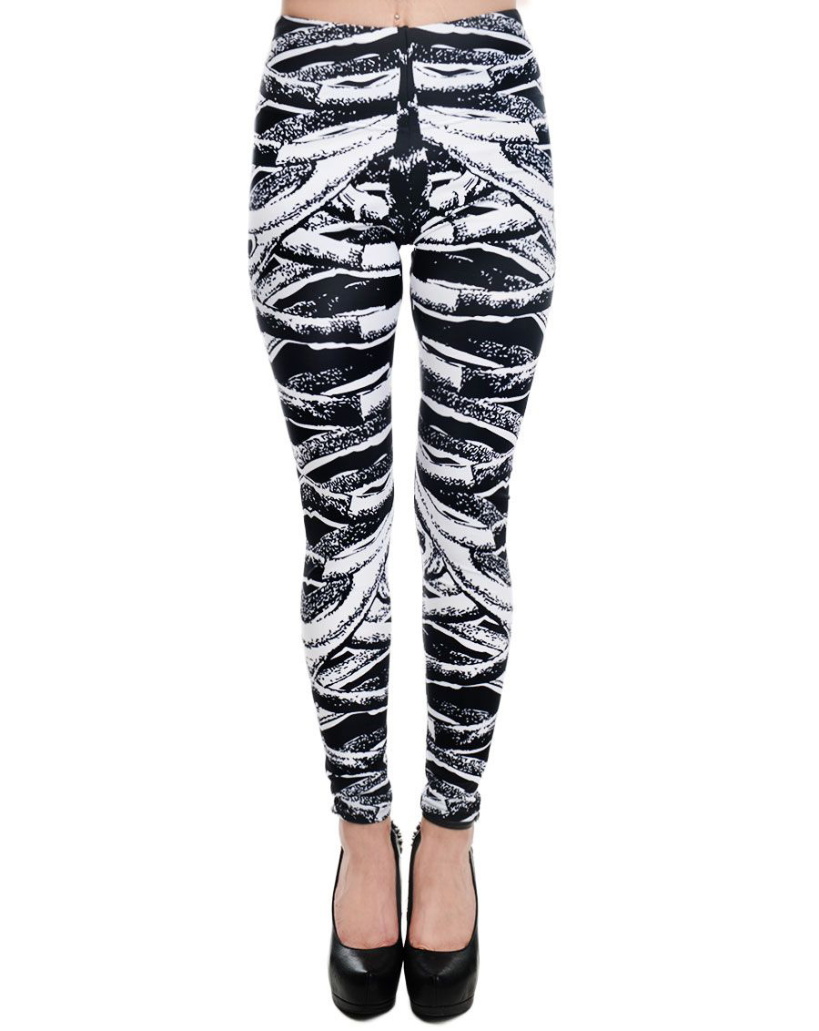 Lexy Leggings by Too Fast Clothing - Ribcage Bones - SALE