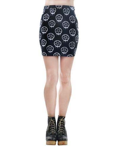 Mercy Mini Skirt by Rat Baby / Too Fast Clothing - Drippy Pentagram - SALE