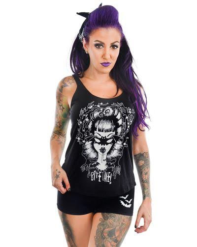 Charlotte Tank Top by Too Fast Clothing - Bite Me - SALE sz M & L only