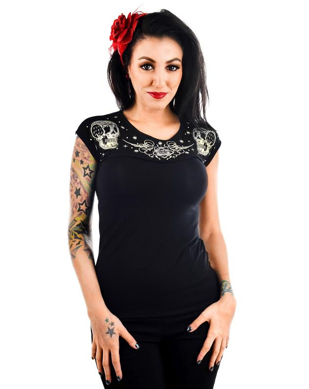 Dame Embroidered Top by Banjo & Cake/Too Fast Clothing - Patchwork - last one size M only! SALE
