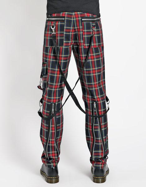 00354154d Vicious Bondage Pants w Straps by Tripp NYC - mulit plaid