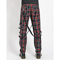 Vicious Bondage Pants w Straps by Tripp NYC - mulit plaid