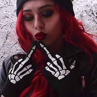Gloves by Too Fast / Rat Baby Clothing - Up Yours - SALE