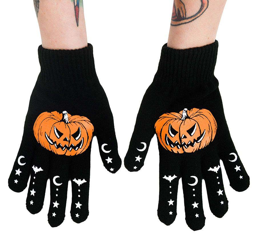 Gloves by Too Fast / Rat Baby Clothing - Pumpkins