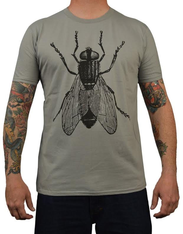 The Fly on a grey guys slim fit shirt by Annex Clothing - SALE