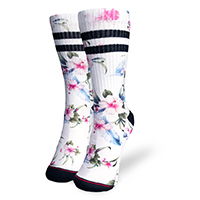Liquor Brand Unisex Socks - Luau Floral on White