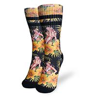 Liquor Brand Unisex Socks - Tiki Time Hula on Black