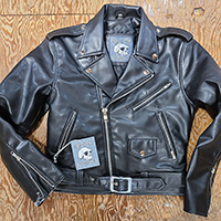 Womens/Kid's Size Biker Jacket by Angry Young And Poor- Black Vegan - SALE