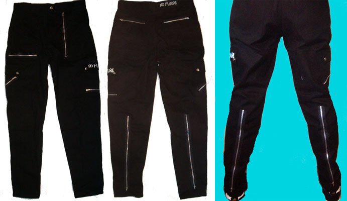 Zip Pants in Black by No Future (Sale price!)