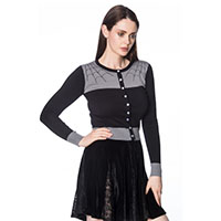 Tarantula Wed Cardigan by Banned Apparel - black & gray
