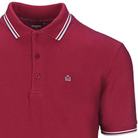 Card Polo by Merc Clothing- Claret & Harmony