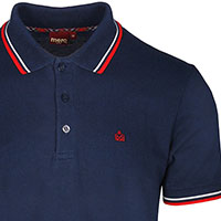 Card Polo by Merc Clothing- Navy & Blood