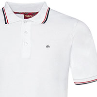 Card Polo by Merc Clothing- White & Blood