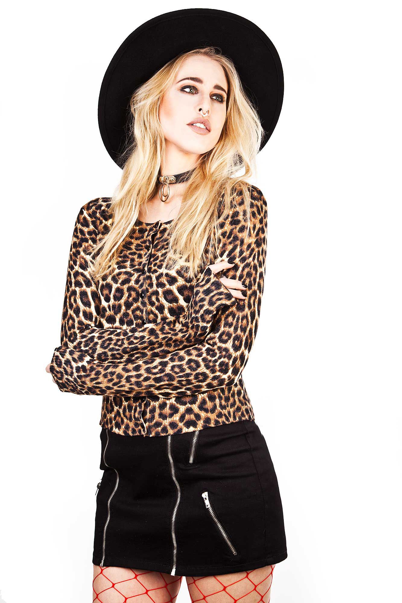 Crazy Love Leopard Cardigan by Banned Apparel