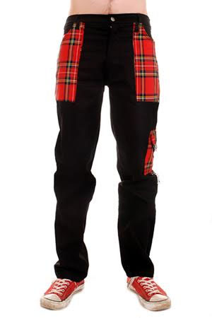 Cotton Work Pants with Red Plaid Pockets by Tiger Of London sz 38 only