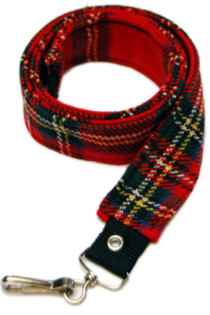 Red Tartan Wool Bondage Straps by Tiger of London