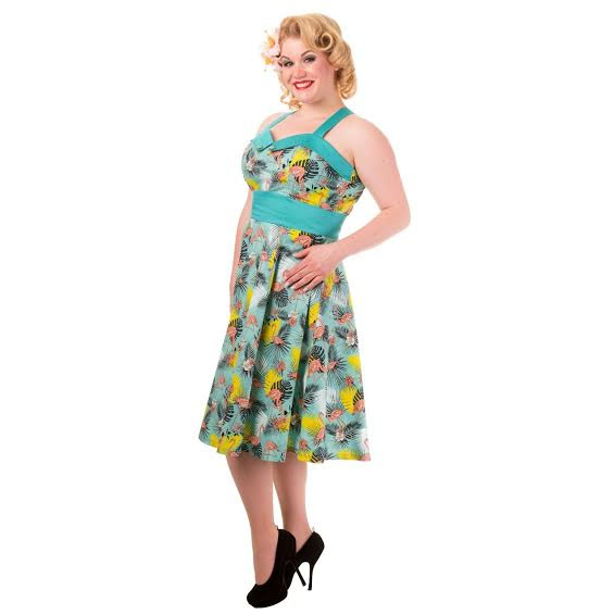 Wanderlust Flamingo Halter Plus Size Dress by Banned ...