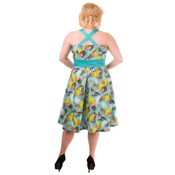 Flamingo Halter Plus Size Dress by Banned Apparel - Sale