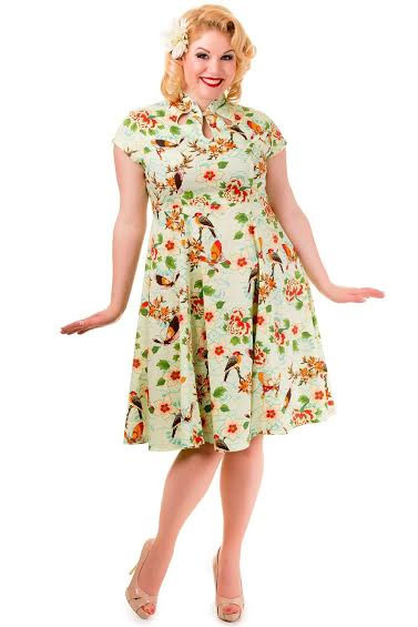 Heartbreaker Mandarin Retro Style Plus Size Dress by Banned Apparel - SALE  sz 4X only