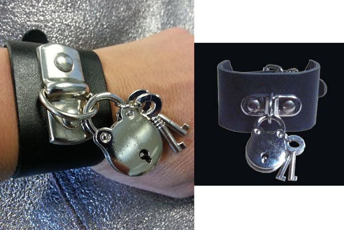 Padlock Leather Cuff from Tiger of London