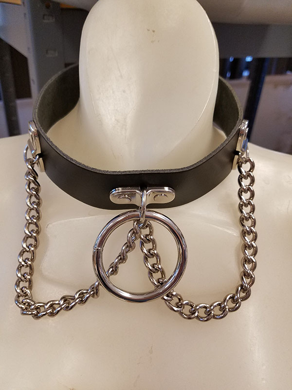 Large Bondage Ring and Chain Choker from Tiger of London