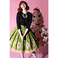 Deer Holidaze Gathered Skirt by The Oblong Box Shop