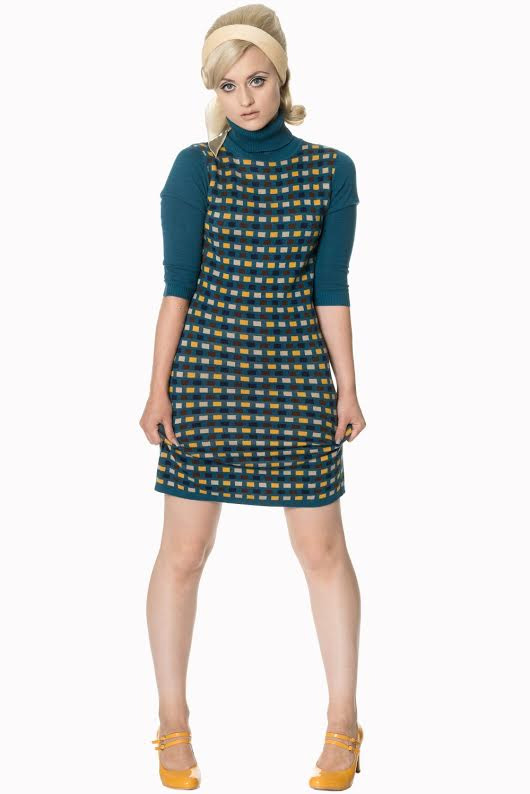 Prim Mod Polo Neck Knit Dress by Banned Apparel - SALE sz XS only