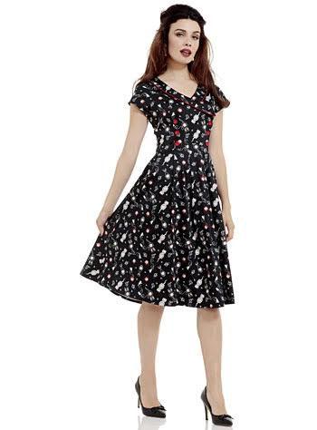 Kit Kat Clockwork Flare Dress by Voodoo Vixen - SALE
