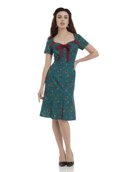 Charie Antique Cherry Bell Shape Dress by Voodoo Vixen - SALE sz M only