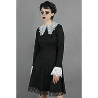 Weird Sisters Lace Collar Fit & Flare Dress by Jawbreaker - black - SALE
