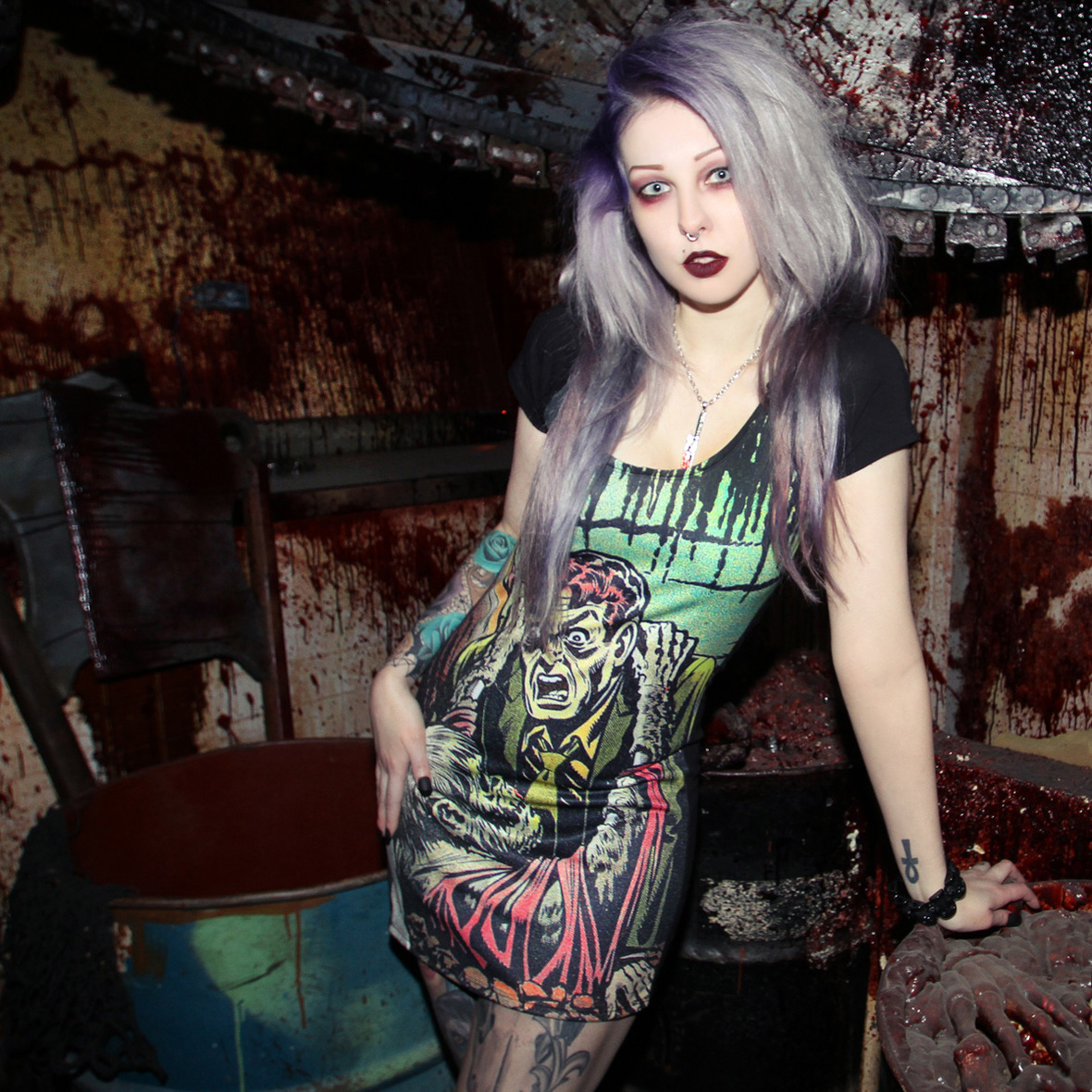 Tales From the Crypt Gravebuster Dress by Kreepsville 666 - SALE sz XS only