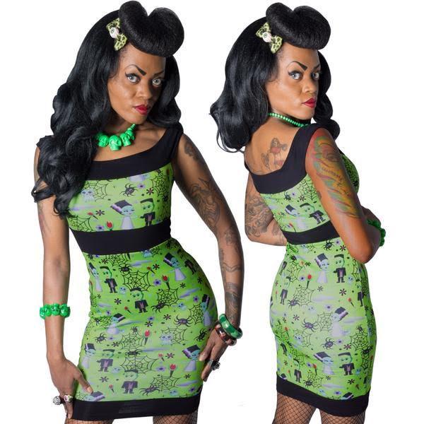 Frankenkuties Pencil Dress by Kreepsville 666 - SALE