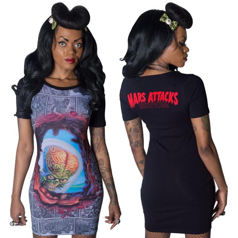 Mars Attacks Looking Blast Dress by Kreepsville 666 - SALE