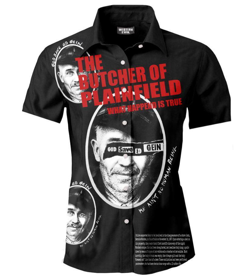 God Save Ed Gein Button Up Shirt by Western Evil