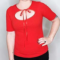 Evelyn Top by The Oblong Box Shop - Short Sleeve Red