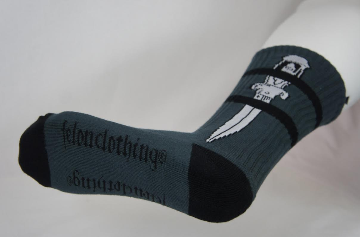 Dagger guys socks by Felon Clothing - last pair