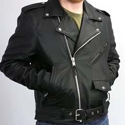 Superstar Guys Soft Cowhide Motorcycle Jacket by First MFG