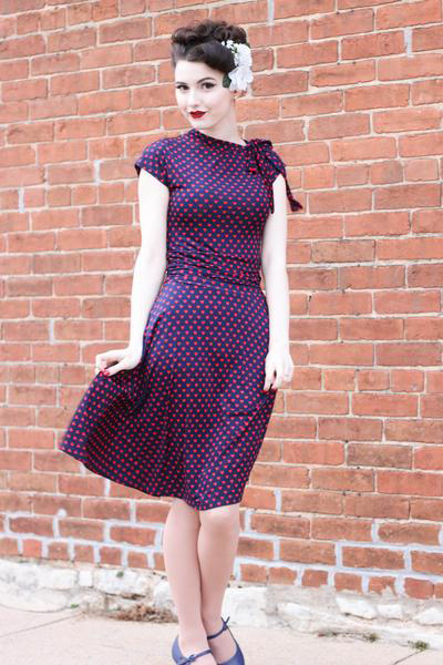 Hearts Bombshell Dress by Folter / Retrolicious - SALE sz 1x & 2x only