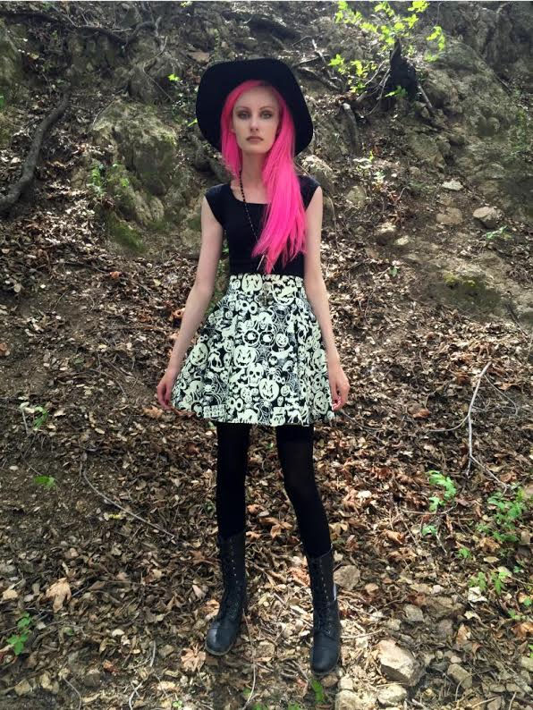 Creatures of the Night Skater Skirt by Folter - Glows in the Dark - SALE