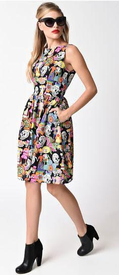 Til the End of Time Sugar Skull Dress by Folter - SALE sz XL only