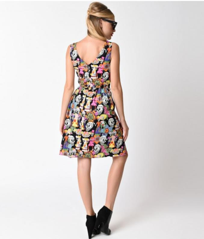 Til The End Of Time Sugar Skull Dress By Folter Sale Sz Xl Only