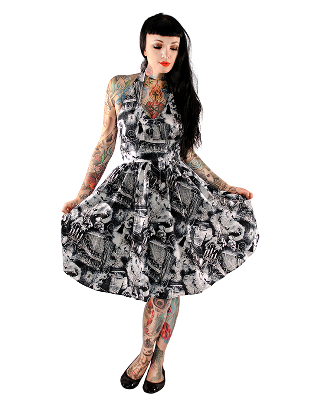 Ghouls Halter Dress by Folter