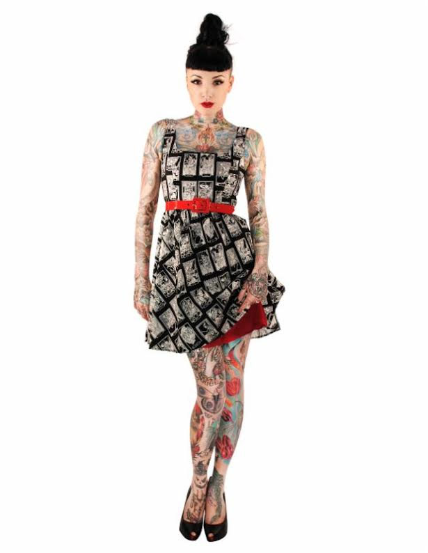 Skeletons Dress by Folter / Retrolicious - SALE
