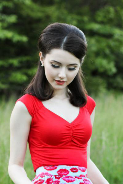 Isabel Top by Folter - in red