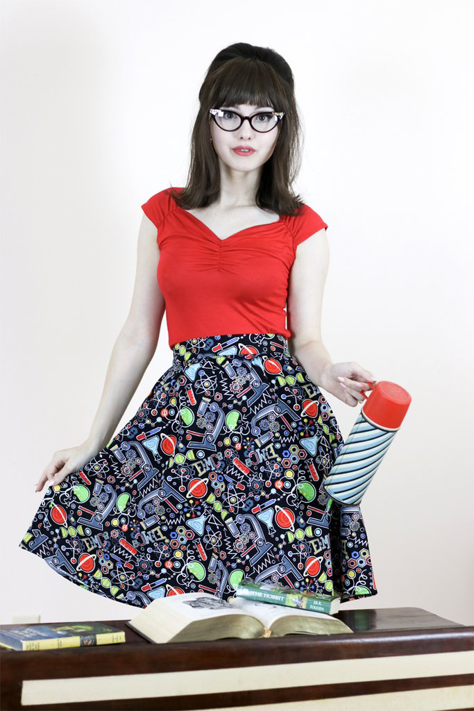 Science A Line Skirt by Folter / Retrolicious