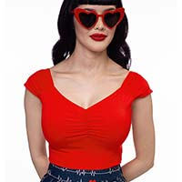 Isabel Top by Folter / Retrolicious - in red
