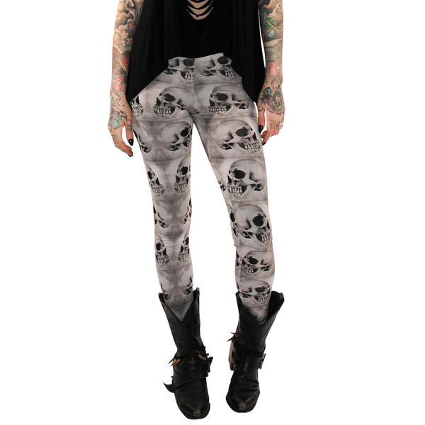 Profiles Leggings by Folter - Repeat Skull Print - SALE