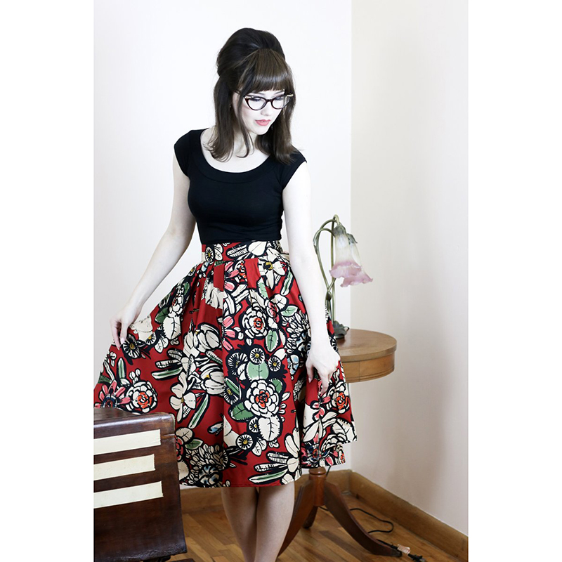 40's Madison Frida Swing Skirt by Folter