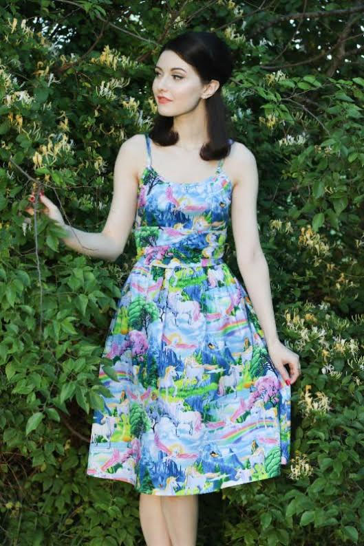 Mystical Unicorns 50's Dress by Folter - SALE